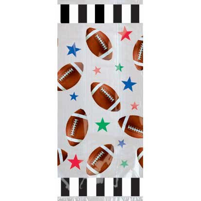 "Football Cello Birthday Party Favor Gift Treat Goodie Bag Large 11x5"" (20) Ties"