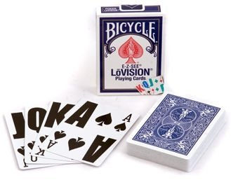 Bicycle Lo- Vision Playing Cards Blue Deck - 1