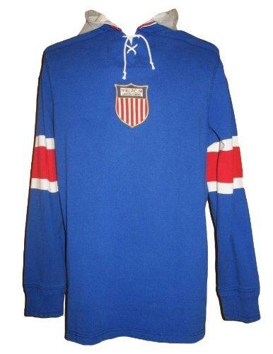 Ralph Lauren Polo Men's Pullover Hoodie Rugby Shirt Sweatshirt XL-Blue