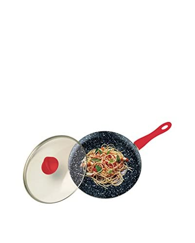 Mepra Fantasia Pietra Wok with a Lid, Red