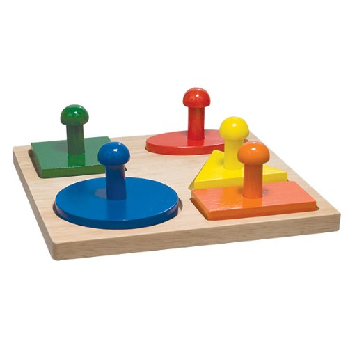 Picture of Maxi-Aids Geo Puzzle Board (B000YL7XWS) (Pegged Puzzles)