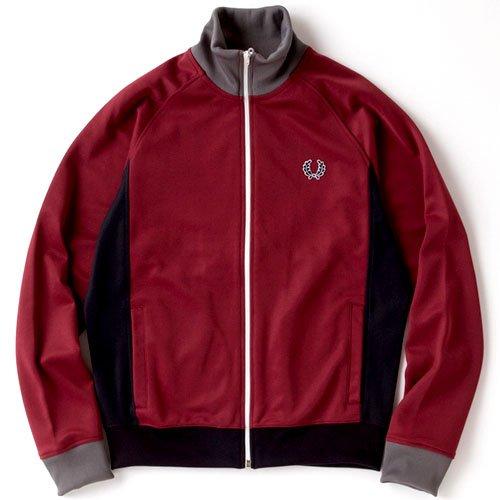 FRED PERRY(フレッドペリー) トラックジャケット Side Panel Track Jacket メンズ Sサイズ MAROON j6235-S-106