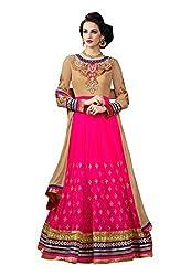 Fabdeal Women Premium Georgette Embroidered Salwar Kameez