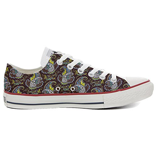 Converse All Star Hi chaussures coutume (produit artisanal) Brown Paisley