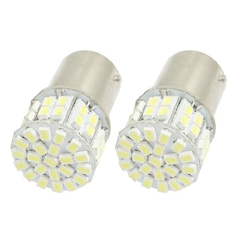 2 Pcs Ba15S 1156 White 50 1206 Smd Led Tail Brake Light Lamp Bulb