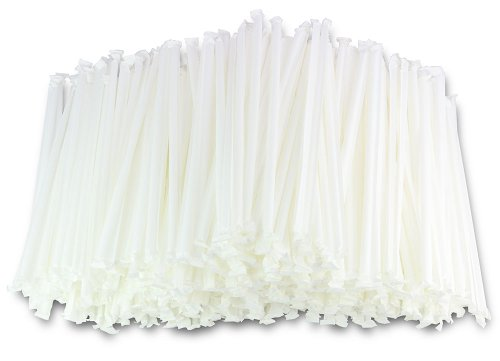 """Clear Disposable Drinking Straws Individually Wrapped 7 1/2"""", 500 Count"""