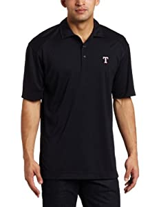 MLB Texas Rangers Mens Drytec Genre Polo Knit Short Sleeve Top by Cutter & Buck