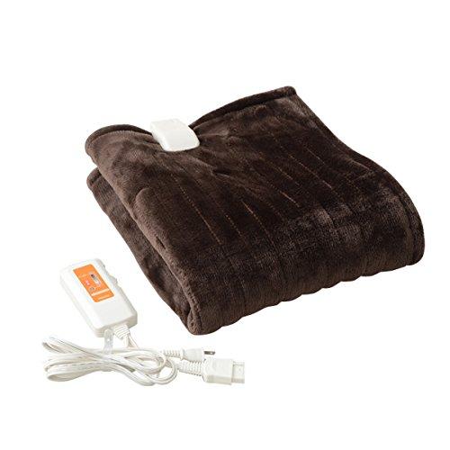 山善(YAMAZEN) ふわふわもこもこ 電気ひざ掛け毛布(120×60cm) 表面フランネル・裏面プードルタッチ仕上げ YHK-43P