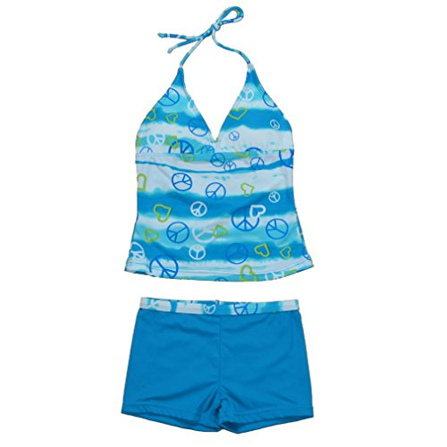BHL Girls Swimwear 6-16 Years (12-14 Years, Blue) image
