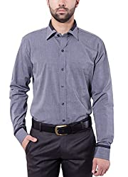 Tag & Trend Mens Slim Fit Formal Wear BATTLESHIP GRAY Shirt by TRADIX INNOVATIONS (Size- 44 XXL)