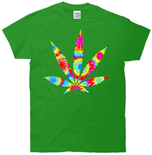 Tie Dyed Weed Symbol T-Shirt