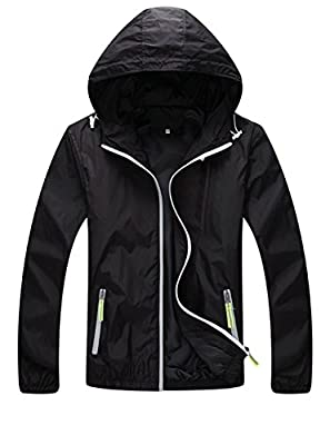 Unisex Cycling Waterproof Jacket Running Nightrider Hooded Coat Windbreaker Skin Coat