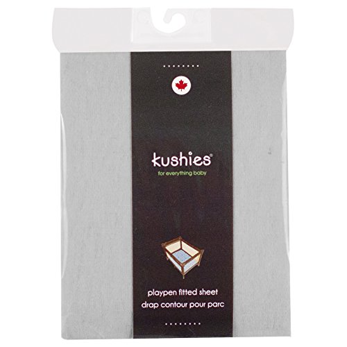 Kushies Baby Portable Play Pen Sheet, Grey Solid