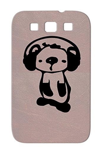 Tpu Music Art Oceania Wildlife Aus Animals Nature Wild Animal Oceania Animation Autratlia Koala Vector Headphones Animals Animation Unique Cute Illustration Graphic Black Koala With Protective Hard Case For Sumsang Galaxy S3