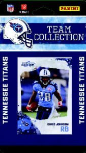 2010 Score Tennessee Titans Team Set of 11 NFL cards with Chris Johnson, Vince Young, Derrick Morgan Rookie Card & more