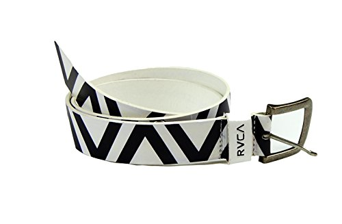 RVCA Men's By Pm Tenore Zig Zag Belt S White