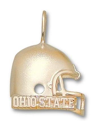 Ohio State Buckeyes Ohio State Helmet Pendant - 14KT Gold Jewelry by Logo Art