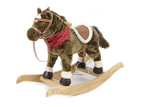 HollyHOME Plush Rocking Horse Making Realistic Sounds While Shaking Head and Wagging Tail