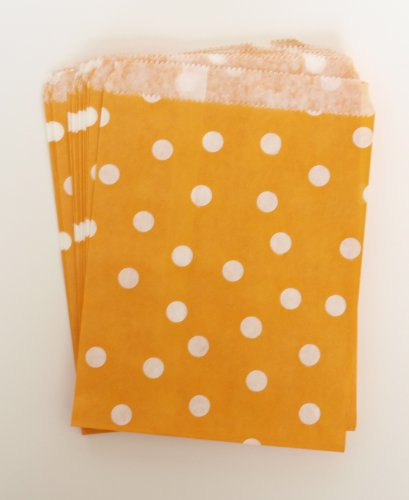 Thank You Treat Gift Bags, Orange Polka Dot (25 Pack) - Birthday Party Favor Sacks For Candies, Toys, Crafts, Hats, Noisemakers & Kazoos front-709868