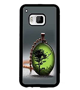 PrintDhaba Pendant D-2414 Back Case Cover for HTC ONE M9S (Multi-Coloured)