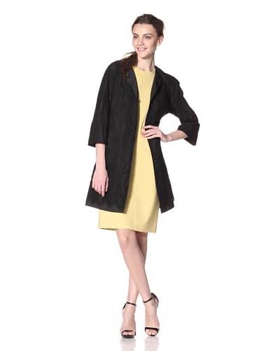 Les Copains Women's Lace Nylon Rev Coat  - Grey
