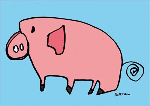 Verschicken Sie diese lustige Glücks Schweinchen Karte nicht nur zum Geburtstag • auch zum direkt Versenden mit ihrem persönlichen Text als Einleger.