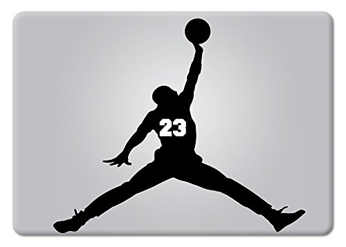 Michael Jordan 23 Large Apple Macbook Decal Vinyl Sticker Apple Mac Air Pro Retina Laptop sticker