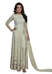 Monika Silk Mill Presents White Designer Dress Material