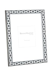 Reed & Barton Silver Link 4 by 6-Inch Frame, Greige