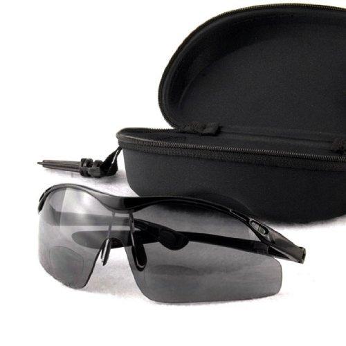 Lightweight Outdoor Sport Gear Camping Sailing Travel Bifocal Reading Sunglasses +1.00 Zip Hard Case