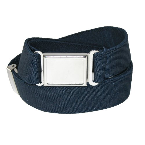 CTM® Kids Elastic 1 Inch Adjustable Belt with Magnetic Buckle, Navy