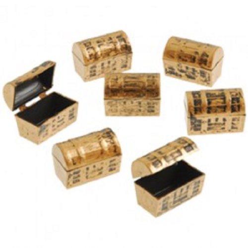 Dozen Mini Pirate Gold Treasure Chests (Pirate Containers compare prices)