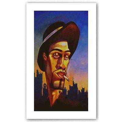 Como No? Justin BUA art print POSTER urban NYC RARE - 19x34
