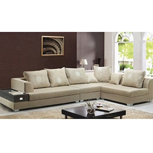 Divano soggiorno 340 cm stile moderno colore sabbia poliuretano componibile