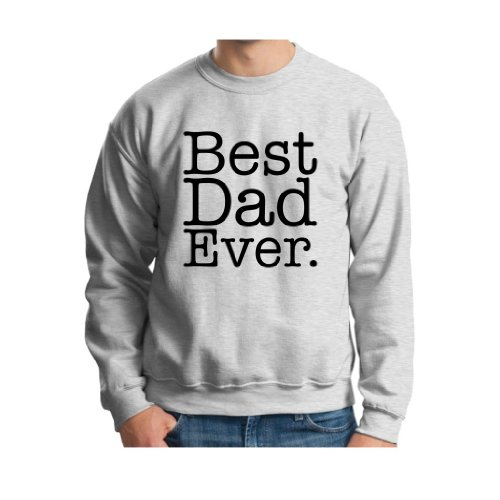 Best Dad Ever Crewneck Sweatshirt Xl Ash front-761714