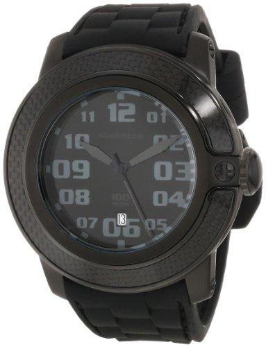 Glam Rock GR33003 - Reloj analógico de cuarzo unisex, correa de silicona color negro