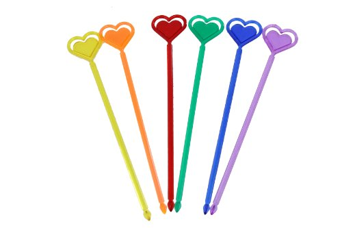 Double Heart Cocktail Stirrers - Pack of 50 |