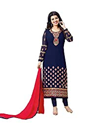 Bhavya Collection Women's Cotton Unstiched Dress material (bg_01_Blue)