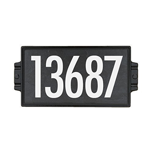 Charcoal Stone Address Plaque 5 (Craftsman Address Numbers compare prices)
