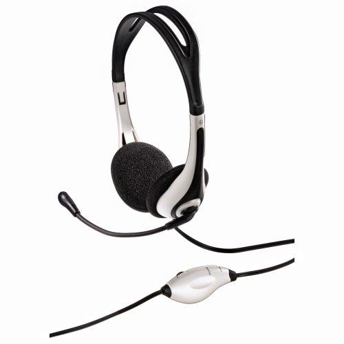 Hama PC-Headset HS-250, stereo, weiß/schwarz