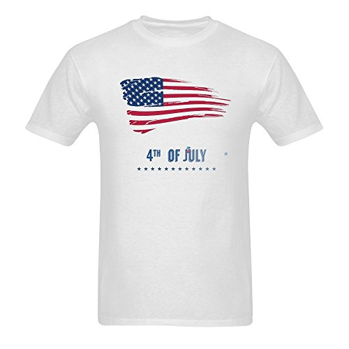 Huang Yu Men's Independence Day T Shirts X-Large