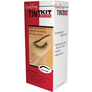 Godefroy Eyebrow Tint Kit, Dark Brown