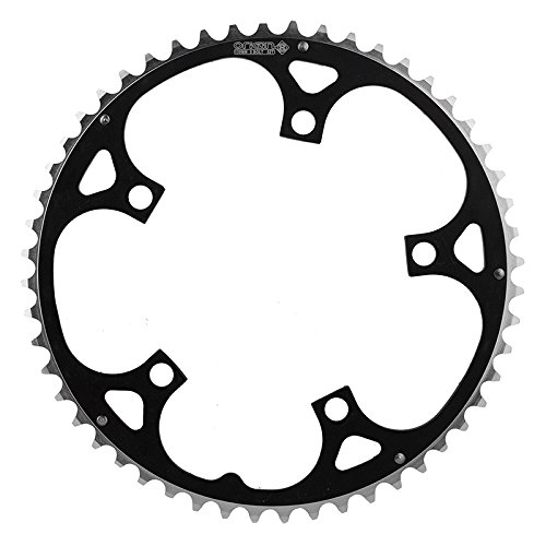Origin8 Alloy Ramped Chainrings, 130mm x 52t, Black/Silver