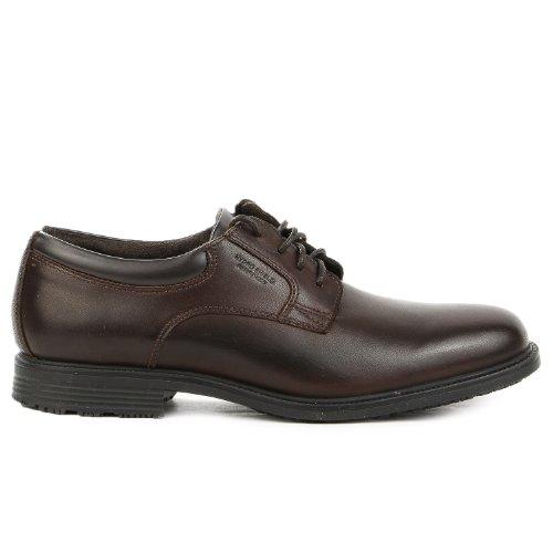 Rockport Men'S Essential Details Wp Plain Oxford,Dark Brown,9 M Us