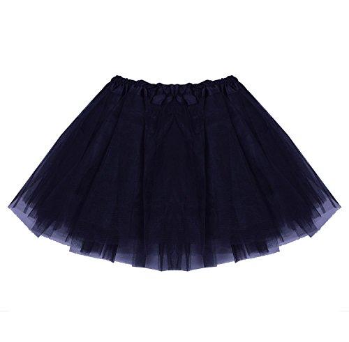 [SUNNYTREE Black Ballet Skirts Dance Tutu Professional for Girls Party Dress Black] (Black Ballet Dance Costumes)