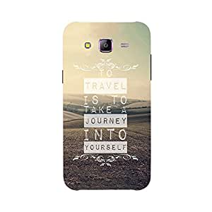Back cover for Samsung Galaxy A7 To travel is to take a journey into yourself