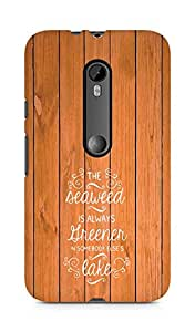AMEZ seawead is greener in others lake Back Cover For Motorola Moto Turbo