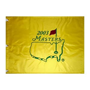 2003 Masters Embroidered Golf Pin Flag - Mike Weir Champion by PalmBeachAutographs.com