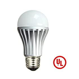  HitLights Dimmable 8W LED Warm White Globe Bulb, Equivalent to 60 Watt, LG LED, UL Listed, Household Standard Base