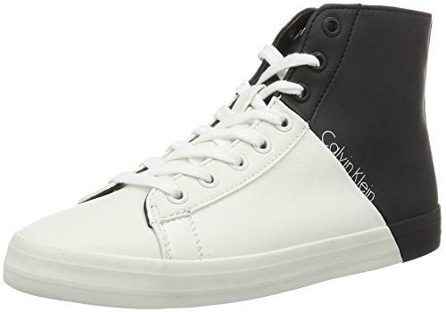 Calvin Klein JeansWALTA MATTE SMOOTH/SMOOTH - Scarpe da Ginnastica Basse Donna , Multicolore (Multicolore (black/white)), 38